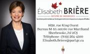 Carte d'affaire député Élisabeth Brière