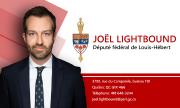 Carte d'affaire député Joël Lightbound