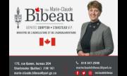 Carte d'affaire député Marie-Claude Bibeau