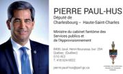 Carte d'affaire député Pierre Paul-Hus