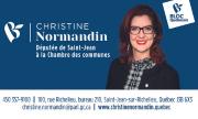 Christine Normandin - Bloc Québécois - Députée de St-Jean - carte d'affaire