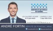 André Fortin, député de Pontiac - carte d'affaires | Partenaire - Jamais sans mon casque